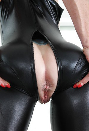 Leather thong mature consider